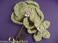 Brosche Häkel ✿ Blüte ✿ Blumenbrosche ANSTECKER Anstecknadel Brooch Broche