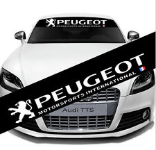 Auto Car Universal Rear Front Windshield Reflective Decal Sticker For PEUGEOT