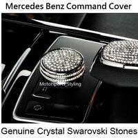cappucci per volante con logo per Mercedes Benz 49 mm parti emblema Bling Decalcomanie Copre decorazioni interne W205 W212 W213 C117 C E S CLA GLK Class Crystal Silver Tbrand