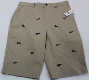 Brooks Brothers Boy Allover Golf Flag Print Shorts Size 18