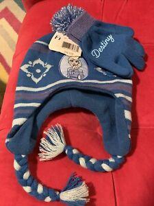 NWT Girls 1 Size Disney Frozen II Elsa Winter Hat & Mittens