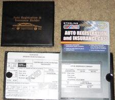 Sterling Auto Truck Registration Insurance Document Holder Wallet Black Case NWT