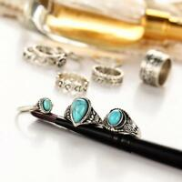 Boho Turquoise Finger above Knuckle Ring Band Midi Rings Stacking Ring SD