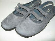 SoftWalk Faux Suede Mary Janes Slip On Comfort Shoes Size 10 N Womens Slate Blue