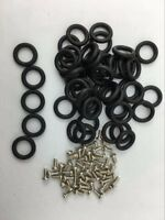 Lot 100pcs (O-Rings + Screws) O-Rings bands GI Joe Cobra Action Force accessory