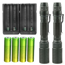 18650 Battery Sky Wolf Eye 50000LM Zoomable Flashlight T6 LED Focus Torch Lamp