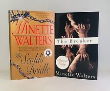 Minette Walters-2 BOOKS!!-BOTH SIGNED!!-TRUE First/1st Editions!!-Bridle-Breaker