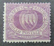 nystamps Italy San Marino Stamp # 17 Mint OG H $1000   U11x2692