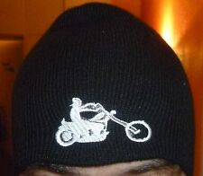 Mütze Beanie Strickmütze  bestickt  Biker  Harley DAVIDSON  Chopper Intruder