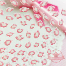 Self Adhesive Light Pink Leopard Nail Art Stickers Transfer Decals