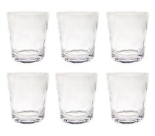 QG 14 oz Clear Acrylic Plastic Wine Rocks Glass Water Juice Cup Tumbler Set of 6