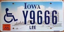 PLAQUE immatriculation américaine  USA IOWA 2006