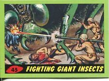 Mars Attacks Heritage Green Parallel Base Card #45    Fighting Giant Insects