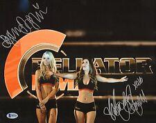 Mercedes Terrell & Dasha Alexandria Signed 11x14 Photo BAS Beckett COA Bellator