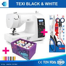 Texi BLACK&WHITE Nähmaschine mit 200 Stichprogramme + Extras TOP
