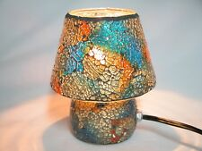 """Mosaic Glass table lamp, Multi color 8"""""""