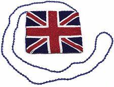 MOYNA British Flag Beaded Cross Body Handbag Shoulder Bag Purse