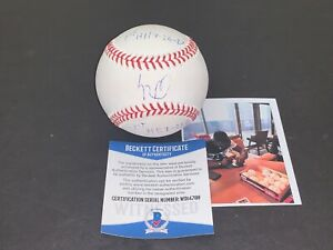 Luis Robert White Sox Signed Baseball Beckett COA 2 INSCRIPTIONS Imperfect