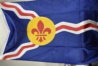 NOS Valley Forge St. Louis City MO Flag 3'x5' Perma-Nyl No Box