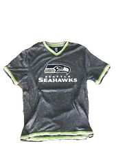 SEATTLE SEAHAWKS T-SHIRT FOOTBALL NFL TEAM APPAREL L-Great with green/wht trim
