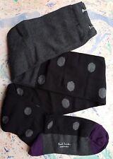 Paul Smith Women Italian Tights Medium Thickness Polka Black F968 Cotton OneSize