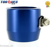AN -20 (AN20) 40mm Blue Fuel Hose Clamp Finishers - For Silicone hoses etc