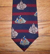 509t NIB New Navy Blue Red BELGRAVIA Stripe Silk Tie!