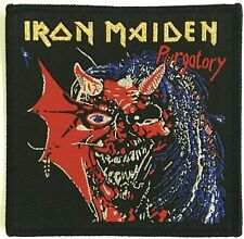 IRON MAIDEN - Purgatory - Woven Patch Sew On Golden Logo Black Edging NWOBHM