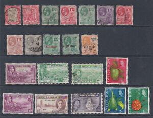 Montserrat 1903-65 Used Mint MH Part Sets King George V Fruit Landscapes War