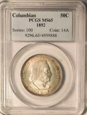 1892 Columbian Commemorative Silver Half Dollar - PCGS -  MS-65 - Mint State 65