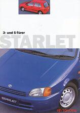 Prospekt Toyota Starlet 3 Türer 5 Türer 1997 Autoprospekt 7 97 brochure Auto Pkw