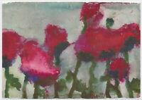 Klaus Fußmann - original signiert Autogramm auf Kunstpostkarte - Mohn 2005