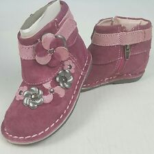 Stride Rite Milania Medallion Collection Boots Girls 5M Pink Leather Boots NIB