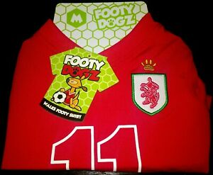 "FOOTY DOGZ ""WALES"" FOOTBALL SHIRT - SIZE M - NEW WITH TAGS (LOT 2)"