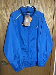 NEW! Canari Microlight Shell Cycling Jacket XX-Large Mens Blue Reflective 2XL