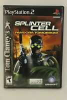 Tom Clancy's Splinter Cell Pandora Tomorrow (Sony PlayStation 2, 2004) PS2 Compl