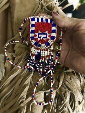 Vintage Native American Navajo Beaded Medicine Bag  Sante Fe New Mexico