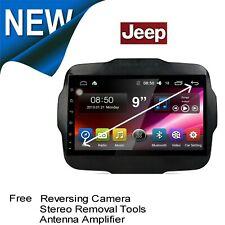 "10"" JEEP RENEGADE 15+ GPS APPLE CARPLAY ANDROID AUTO HEAD UNIT +CAMERA FACT FIT"