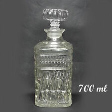 Whiskey Decanter with stopper 700 ml (24 oz) tight air seal pressed glass