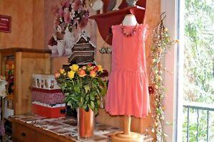 robe  tartine et chocolat neuve 8 ans doublee voile céremonie +le collier