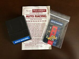 Loose Intellivision Auto Racing Cartridge with Overlays and Sears Manual