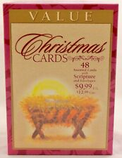 New! Assorted Boxed Christmas by DaySpring. 48 Cards with Scriptures. Old Stock