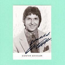 Ansichtskarte Autogramm Günter Geissler signiert Echt Foto