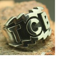 TCB Silver and Black colour Ring size 13