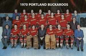 1970 PORTLAND BUCKAROOS 8X10 PHOTO HOCKEY WHL