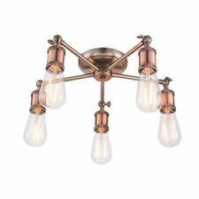 Hall 5 Light SEMi Flush Light Fitting 40W - Copper Aged Pewter Body - 76336