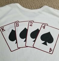 Nike Kobe KB24 RARE Aces Mamba Spades DRI-FIT AD White black shirt FTB 8 9 10 XL