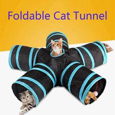 5 Löcher lustige Haustier Katze Tunnel spielen Röhren Bälle faltbare Crinkle CJ