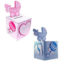 Baby Shower Wishing Well Card Box Decoration Keepsake Carriage Rattle Decoration
