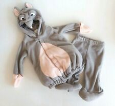 Old Navy Gray Mouse Rat Costume 6-12M Hoodie 2 Piece Fleece Halloween Outfit